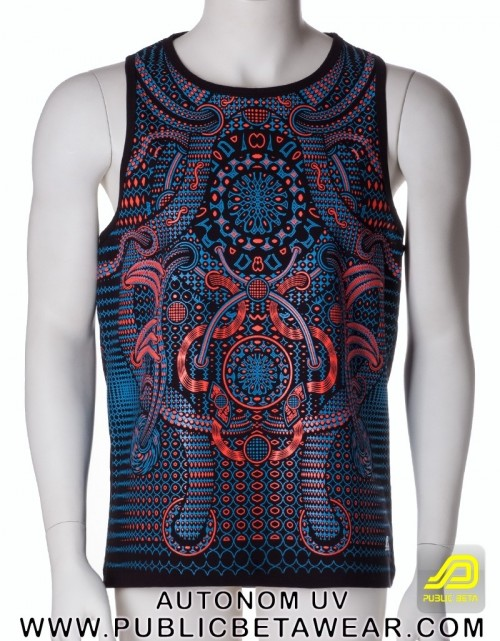 Autonom UV D77 - Sleeveless T-Shirt by Public Beta Wear