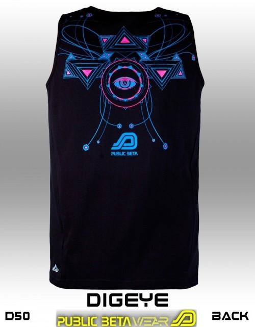 DigEye UV D50 - Psychedelic Sleeveless Shirt by Public Beta Wear