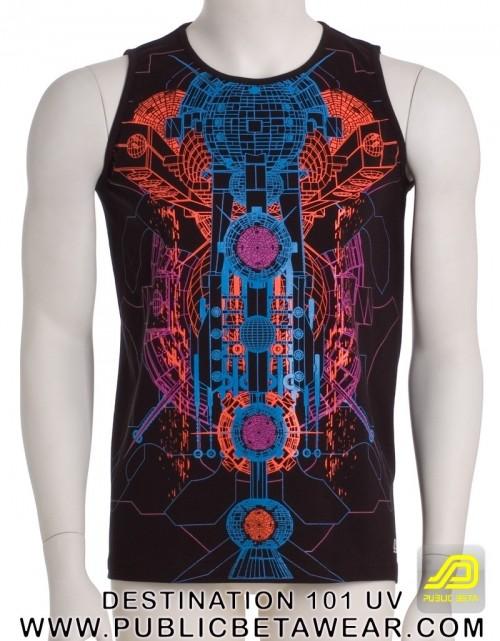 Destination 101 UV D65 - Sleeveless T-Shirt by Public Beta Wear