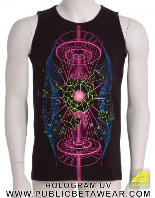 Hologram UV D66 - Sleeveless T-Shirt by Public Beta Wear