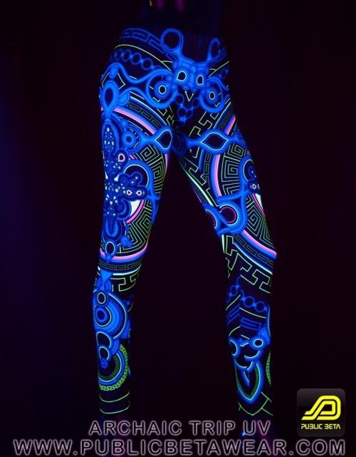 Archaic Trip UV D12 Leggings by Public Beta Wear