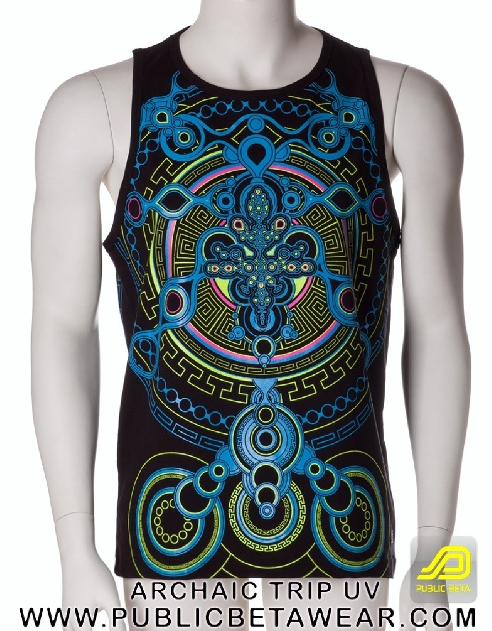 Archaic Trip UV D12 - Sleeveless T-Shirt by Public Beta Wear