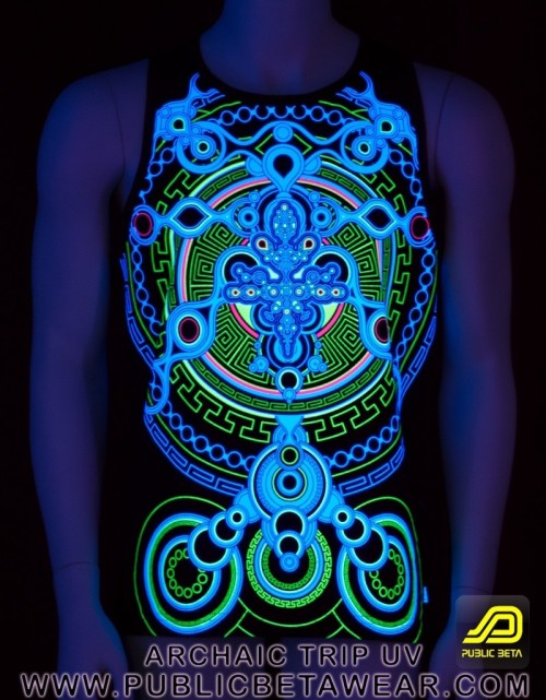 Psywear Sleeveless Shirt blacklight print