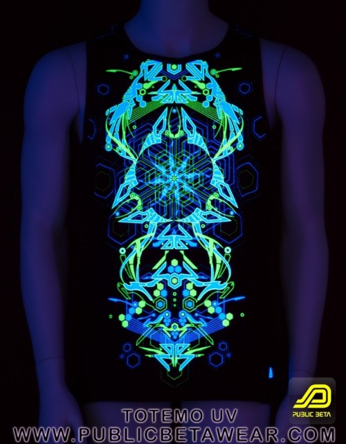 Totemo UV D25 - Sleeveless T-Shirt by Public Beta Wear