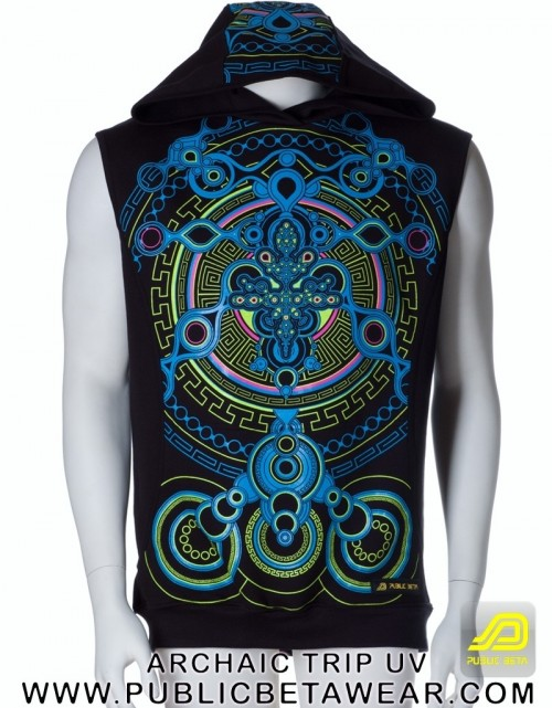 Archaic Trip UV D12 Vest - by Public Beta Wear