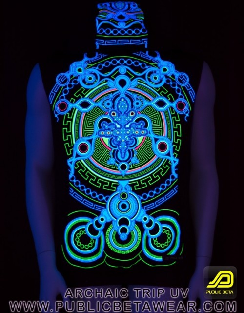 Archaic Trip UV D12 Vest - by Public Beta Wear