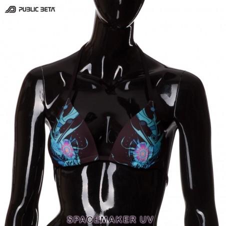 Spacemaker UV D4 Bikini Top by Public Beta Wear