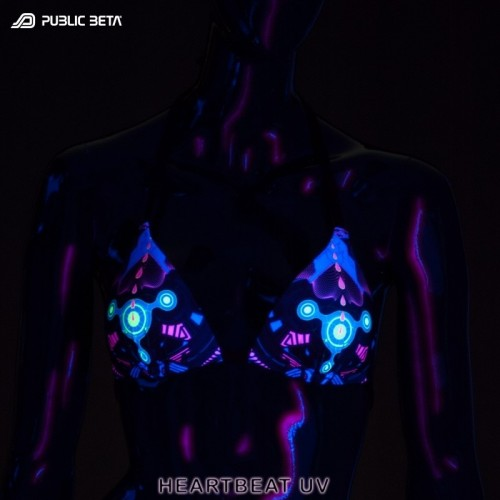 HeartBeat UV D69 Bikini Top by Public Beta Wear