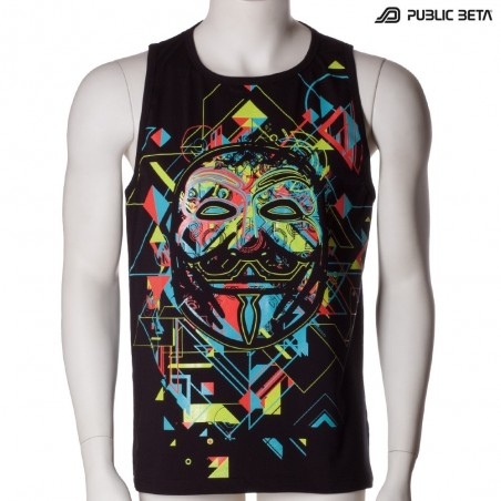 Maskal UV D84 - Sleeveless T-Shirt by Public Beta Wear