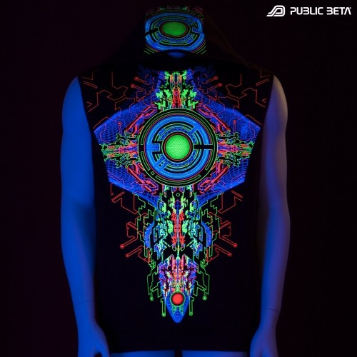 Cyberdeloc Art Printed Vest / Trancemitter UV D48