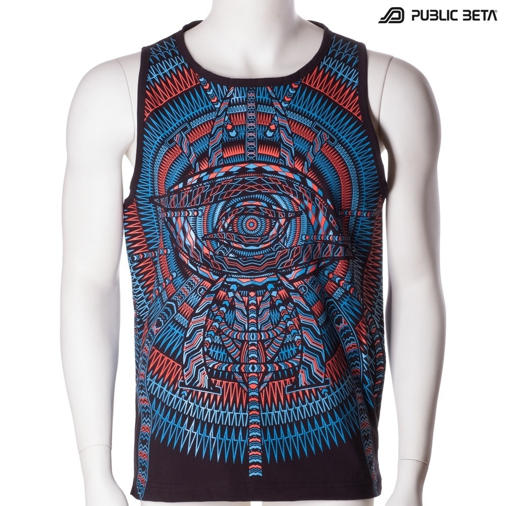 I C ALL UV D85  Glow in Blacklight Sleeveless Shirt
