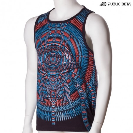 I C ALL UV D85 - Sleeveless T-Shirt by Public Beta Wear