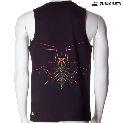Lotus UV D86 - Sleeveless T-Shirt by Public Beta Wear