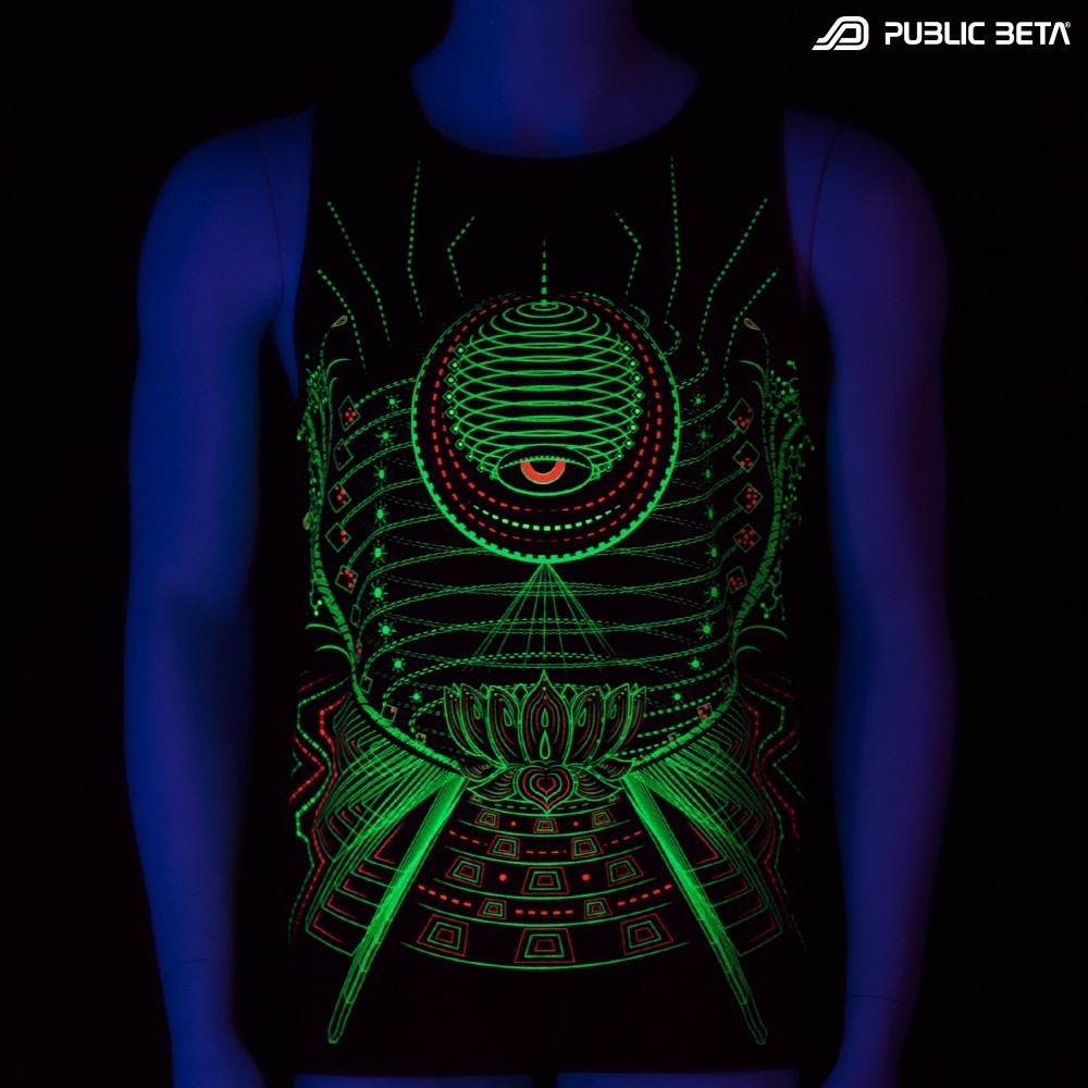 Lotus UV D86 - Sleeveless T-Shirt by Public Beta Wear