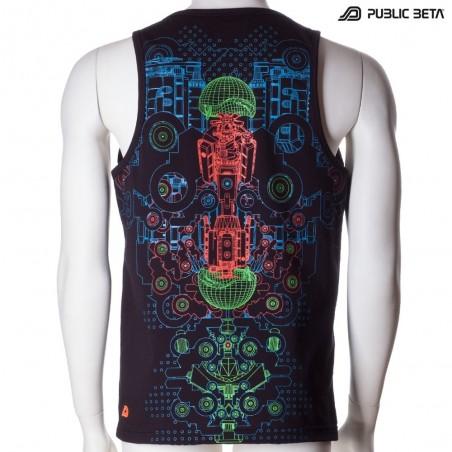 Hybrid UV D87 - Sleeveless T-Shirt by Public Beta Wear