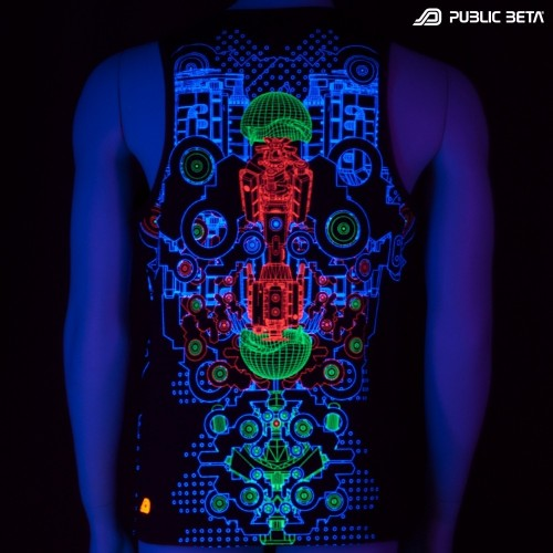 Hybrid UV D87 - Sleeveless T-Shirt by Public Beta Wear