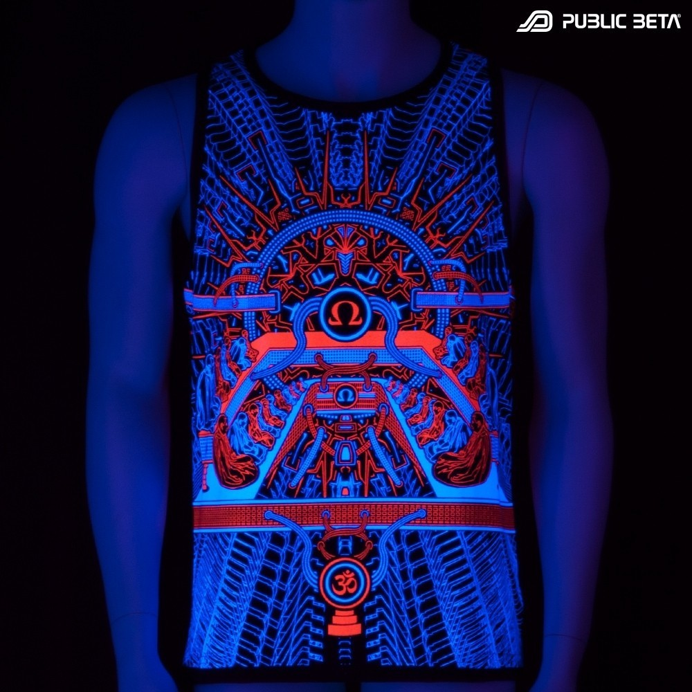 OHMmm UV D88 Sleeveless Shirt / Blacklight Clothing