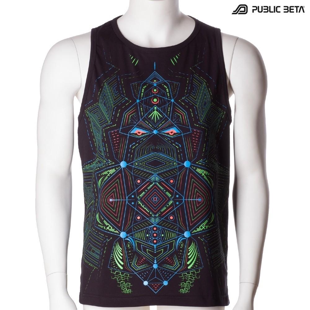 Multidimensional UV D89 Sleeveless Shirt by Public Beta Wear