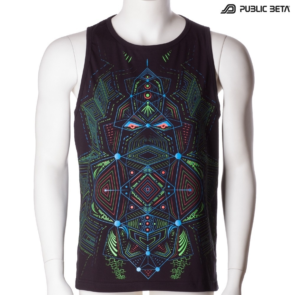 Multidimensional UV Sleeveless Shirt / Blacklight Psywear