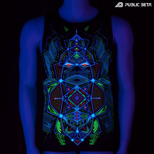 Multidimensional UV D89 Sleeveless Shirt by Public Beta Wear