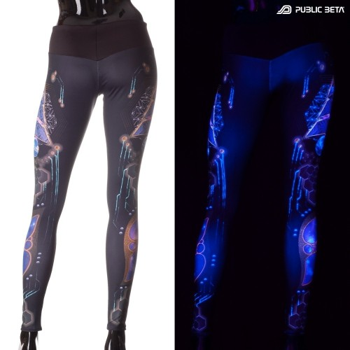 Spyramide D90 UV Active Leggings M2 by Public Beta Wear
