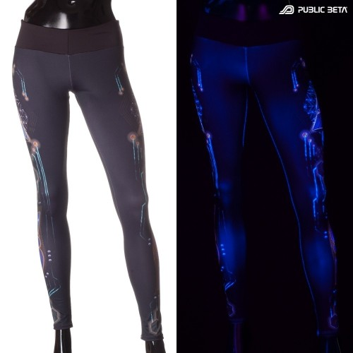 Spyramide D90 UV Active Legging by Public Beta Wear