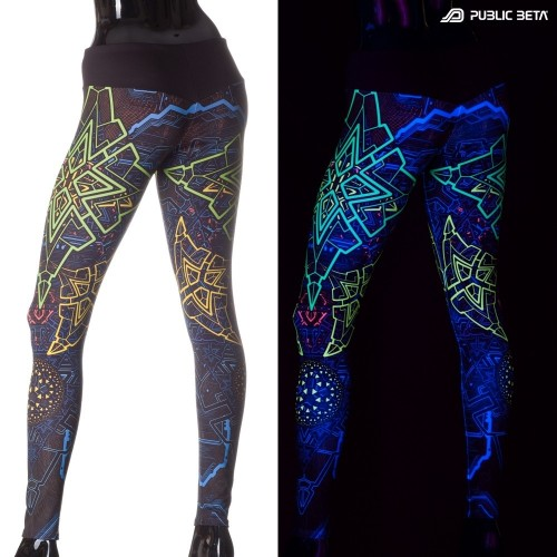 Trinity D91 UV Active Leggings by Public Beta Wear