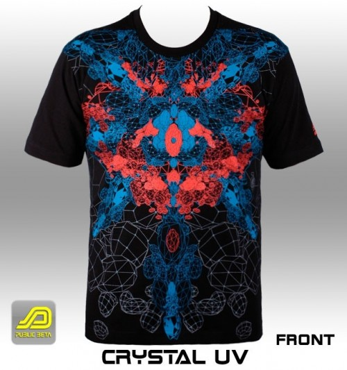 Crystal UV D45 - Psychedelic T-Shirt by Public Beta Wear