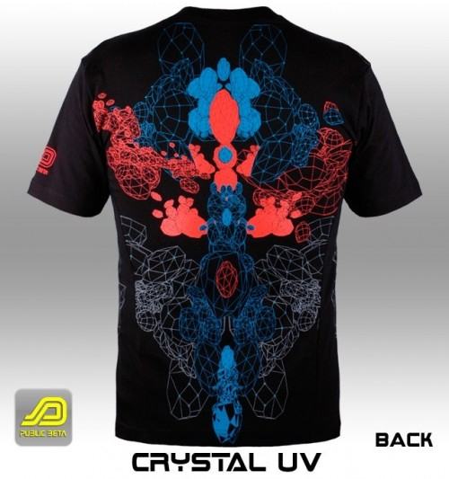 Psychedelic T-Shirt - Crystal UV PBUVT69 by Public Beta Wear