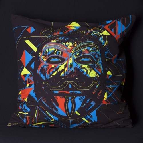 Maskal UV D84 Pillow Case by Public Beta Wear