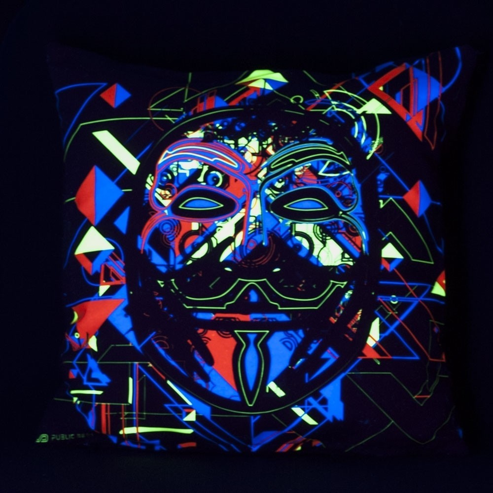 Maskal UV D84 Pillow Case by Public Beta Wear