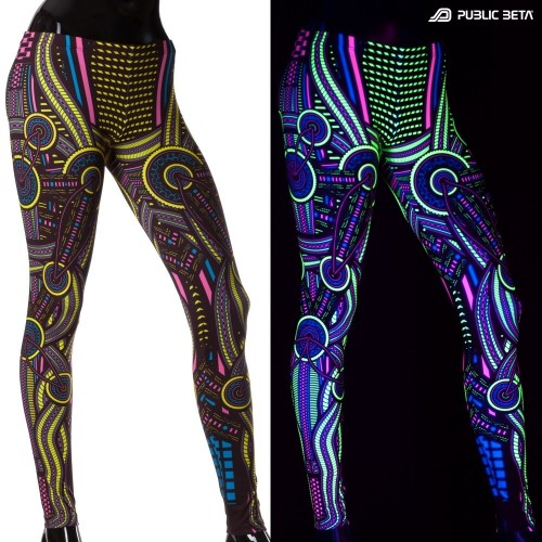 Perplexed D101 Psychedelic Blacklight Leggings