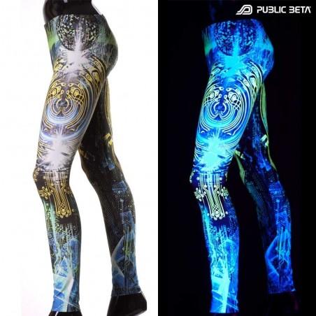 CodeBraker D103 Glow in UV Light Leggings