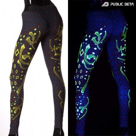 Rhombus UV D104 Neon Psychedelic Leggings