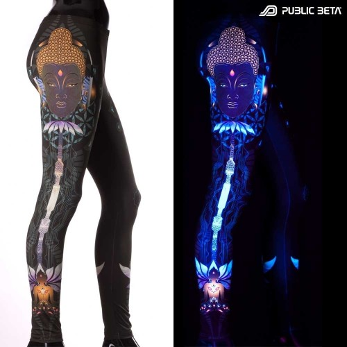Flower of Sound D107 UV Active Leggings