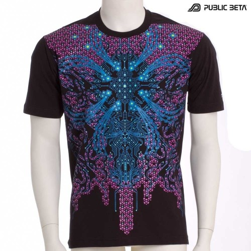 Dark Nebula 2.0 UV D5 - Psychedelic T-Shirt with UV Reactive Print