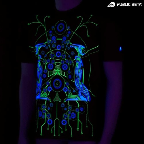 Androids UV D7 - Psychedelic T-Shirt by Public Beta Wear