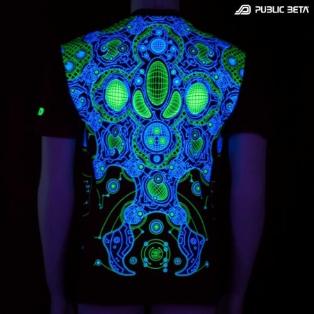 Metamorph UV Reactive Futuristic Printed T-shirt