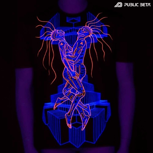 Cyberdelic Visionary Art Printed T-Shirt.