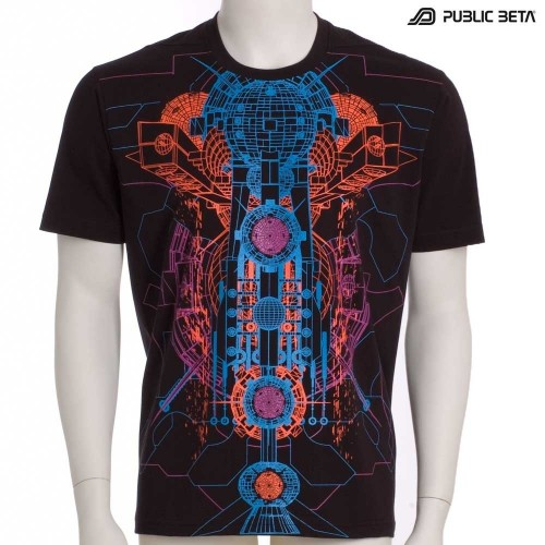 Destination 101 UV D65 - Psychedelic T-Shirt by Public Beta Wear