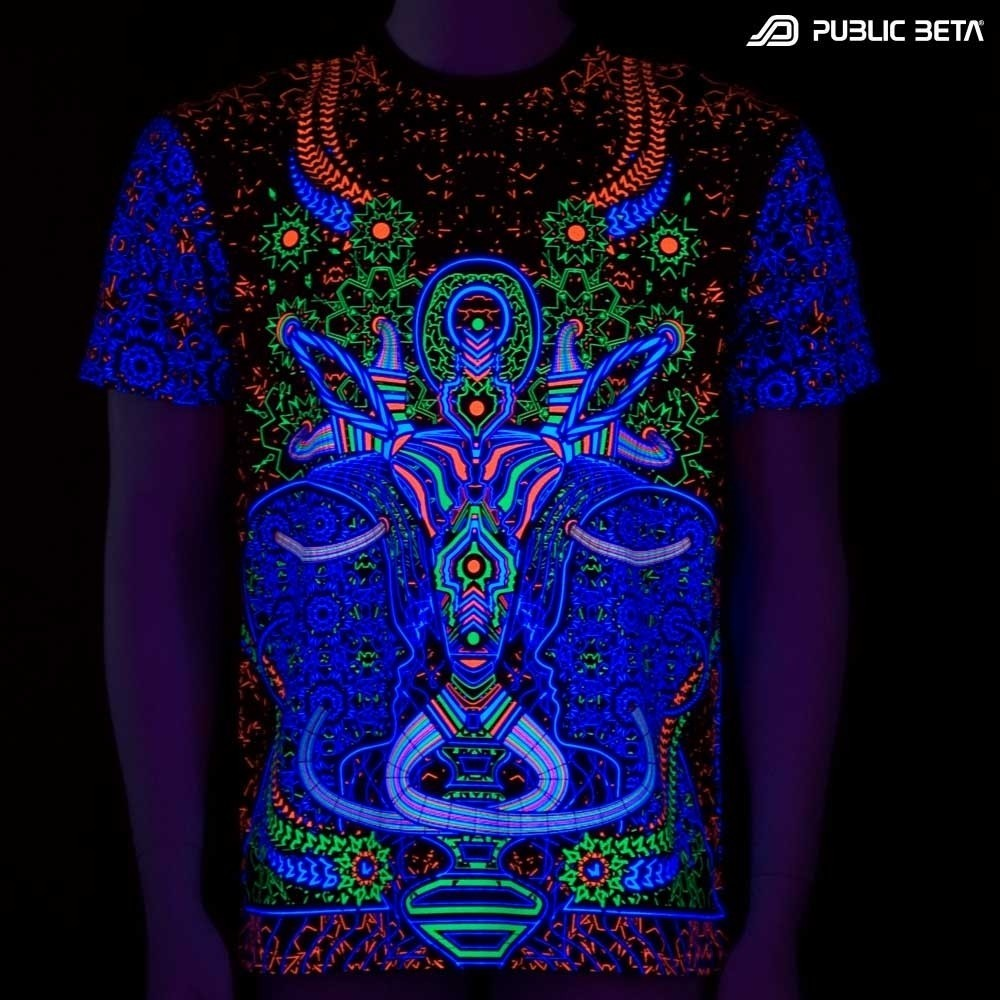Psywear Blacklight T-Shirt / Brain Challenger UV D67 T-Shirt