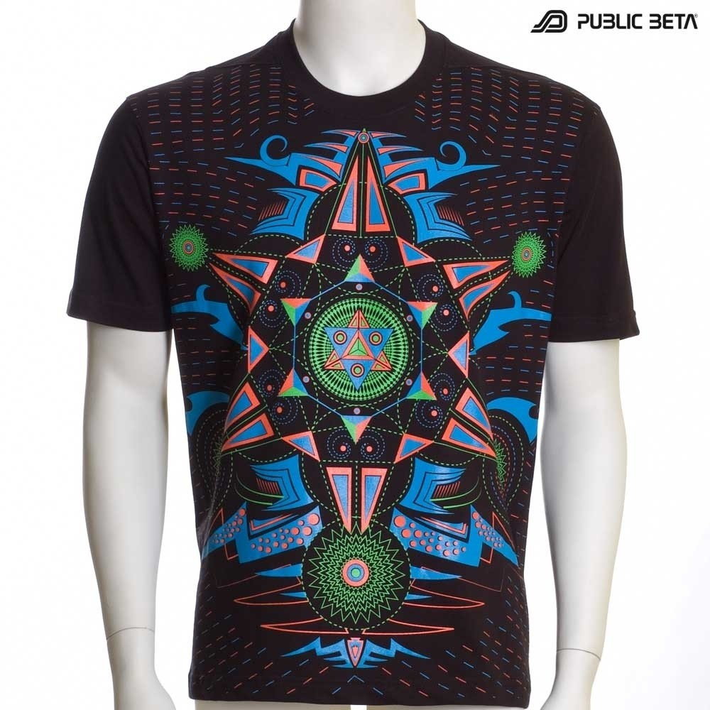 Hexodus UV D72 - Psychedelic T-Shirt by Public Beta Wear
