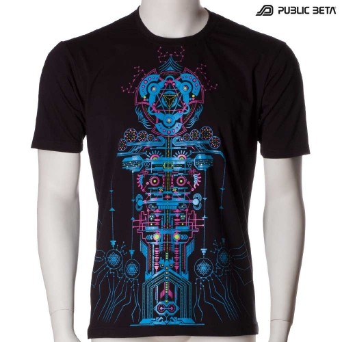 Meruvian UV D82 - Psychedelic T-Shirt by Public Beta Wear