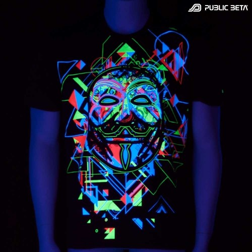 Maskal UV D84 - Psychedelic T-Shirt by Public Beta Wear