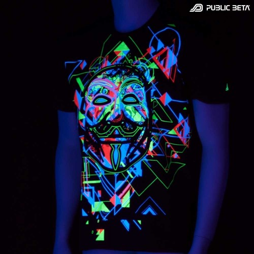 Maskal UV Active Anonymous T-Shirt - Radical Self Expression