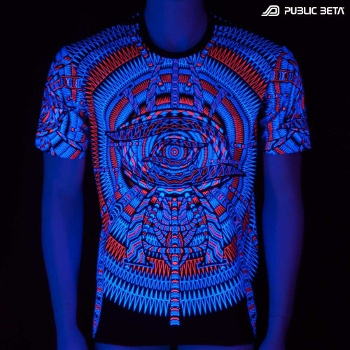 I C ALL UV D85 - Psychedelic T-Shirt by Public Beta Wear