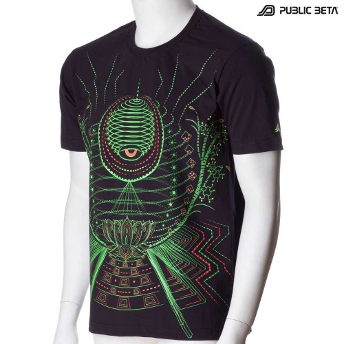 Lotus  UV D86 -/Psychedelic T-Shirt