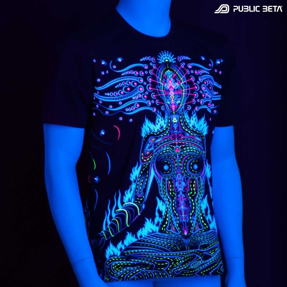 Chakras UV Active Psychedelic Festival Fashion