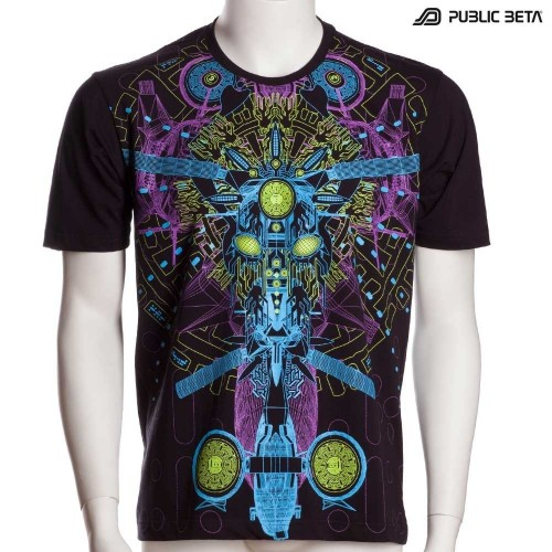 DarkPsy Blacklight T-Shirt / Messenger UV D96