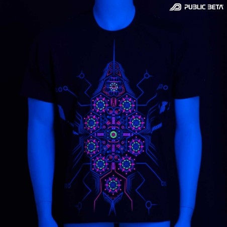 Psychedelic Blacklight Active T-Shirt - DeBug UV D95